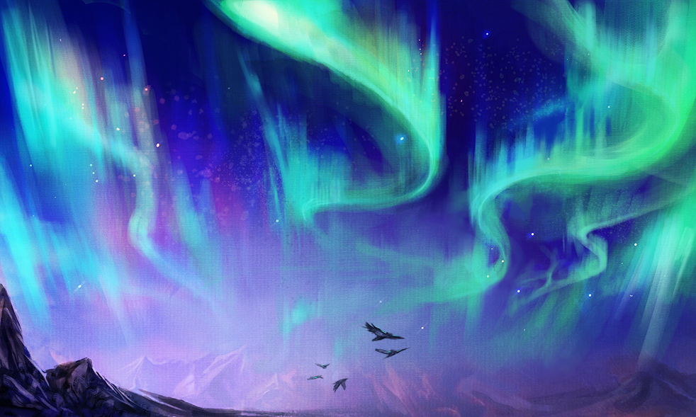 northern_lights_speedpainting_by_exileden-d8k62nu